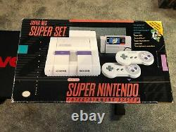 Super Nintendo Snes Console System Empty Box Only Vintage Video Games Polystyrène