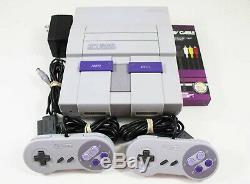 Super Nintendo Snes Console Système Avec 2 Contrôleurs