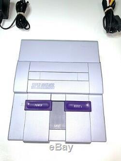 Super Nintendo Snes Console Système Avec 2 Contrôleurs Oem Authentique Et Propre