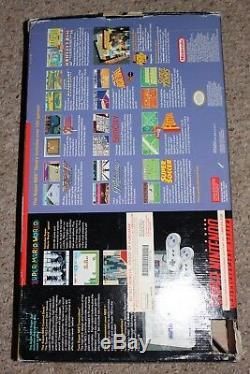 Super Nintendo Snes Console Système Complet Dans Une Boîte Avec Bundle Mario World # Snw4