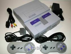 Super Nintendo Snes Console Système De Jeu Vidéo All-gray Complete
