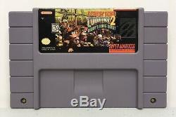 Super Nintendo Snes Donkey Kong Country 2 Authentique / Nettoyé / Testé Saves