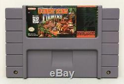 Super Nintendo Snes Donkey Kong Country Authentique / Nettoyé / Testé Saves