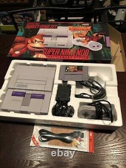 Super Nintendo Snes Donkey Kong Set- In Box Make Me A Offer