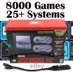 Super Nintendo Snes Édition Mini Classic Modded Avec 8000 Jeux Avecusb Otg