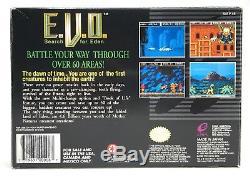 Super Nintendo Snes Evo E. V. O. Rechercher Eden Box + Plateau Authentique No Game