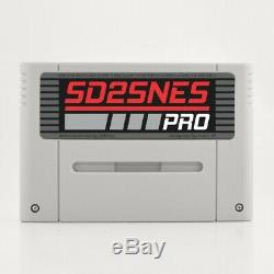 Super Nintendo Snes Famicom Everdrive Sd2snes Pro + Carte Sd Nouveau Cartouche Roms