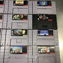 Super Nintendo Snes Games Lot De 12 Système De Divertissement Authentique (testé)