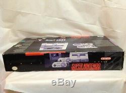 Super Nintendo Snes Gaming Console En Boîte D'origine Avec Deux Contrôleurs Bundle