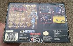 Super Nintendo Snes Hagane Original Box + Plateau Authentique No Game Rare