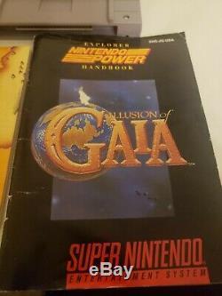 Super Nintendo Snes Illusion De Gaia Complète Dans L'encadré Cib Authentique Saves