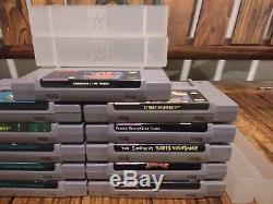 Super Nintendo Snes Jeu Lot Zelda Mario Monde Dk Pays Lemmings 2 Tribus