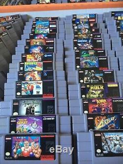 Super Nintendo Snes Jeux Collection De 194 Jeux. Excellents Titres