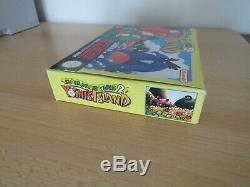 Super Nintendo Snes Jeux Super Mario World 2 Copain Yoshis Island En Boîte