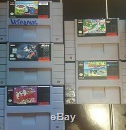 Super Nintendo Snes Jr Console Bundle Avec 5 Jeux 2 Contrôleurs De Oem