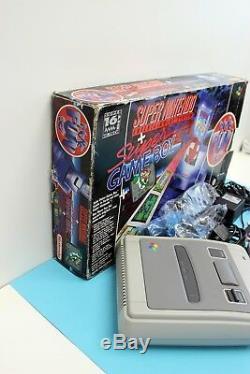 Super Nintendo Snes Konsole + 1 Contrôleur D'origine Dans Ovp Boîte / Plus Set Fun