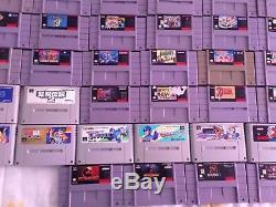 Super Nintendo Snes Lot De 60 Jeux Vidéo Uniquement Des Cartouches Super Famicom Sfc Rare
