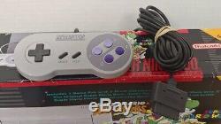 Super Nintendo Snes Mario World & All Stars Console Système Dans L'encadré 2 Complet Oem
