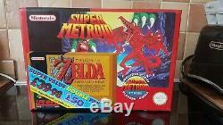 Super Nintendo Snes Metroid Zelda Double Valeur Pak Rare. Condition Des Collecteurs