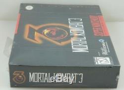 Super Nintendo Snes Mortal Kombat 3 Brand New Scellé En Usine