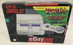 Super Nintendo Snes Nes Système Console Boîte Complète Boxed F-zero Cib Rare
