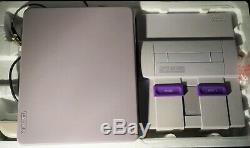 Super Nintendo Snes Set Console In Box Lot Ensemble Rare