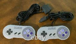 Super Nintendo Snes System Console 2 Contrôleurs Lot Bundle Vintage Rare Games