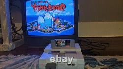 Super Nintendo Snes System Console Bundle Avec Super Mario All-stars, Mario Kart +
