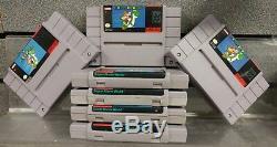 Super Nintendo Snes Système / Console Complète Avec Super Mario World + Contrôleur Oem