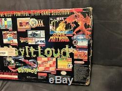 Super Nintendo Snes Système Console Donkey Kong Country Set In Box