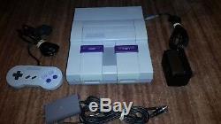 Super Nintendo Snes Système Console Super Set W Smw Boxed W Manuels, 1 Cntrl Vg +