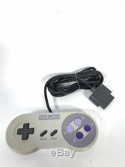 Super Nintendo Snes Système De Jeu Vidéo Console Avec Le Contrôleur Et 6 Jeux Read