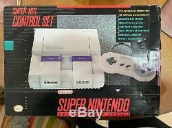 Super Nintendo Snes Système Super Nes Contrôle Set Nib Nouveau Jamis Utilisé