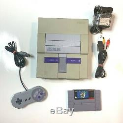 Super Nintendo Snes Travail Console Système Original Avec Mario World