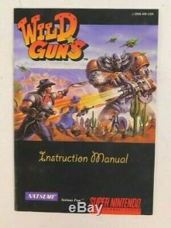 Super Nintendo Snes Wild Guns Etui Et Manuel Authentique Rare