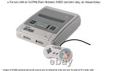 Super Nintendo Snes (pal) Rgb Scart Av Tv Cable Lead (projeté) Stereo Sound