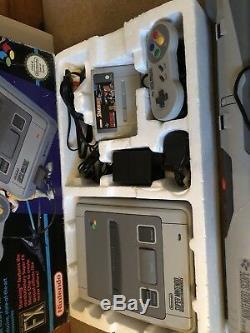 Super Nintendo Starwing Boxed Console Rue Bundle Fighter 2 Portée Et Jeux Snes