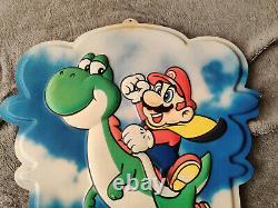 Super Nintendo Super Mario Enseigne Yoshi Snes Double Face