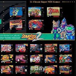 Super Nintendo System Snes Edition Classique Mini Ajouté 820+ Jeux! Navire Rapide! Nouveau