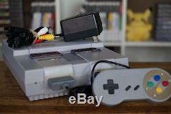 Super Nintendo System Super Nintendo Snes + 1 Manette + Tous Les Câbles Bonne