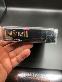 Super Nintendo (snes) Final Fantasy III (3) Très Rare Newith Scellés