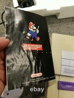 Super Nintendo (snes) Set Complete In Box Avec 2 Contrôleurs- Super Mario World