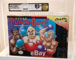 Super Punch-out Vga 85+ Or Super Nintendo Snes Nouvelle Usine Scellée Rare