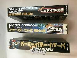 Super Star Wars / Empire Strikes Back Retour Du Jedi Super Famicom Snes Jp