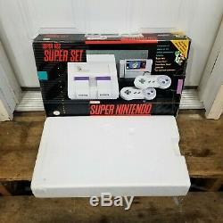 Super Super Nintendo Console Vides Box & Styrofoam Seulement No Système
