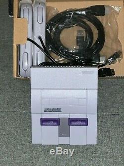 Système De Divertissement Mini Classique Super Nintendo Snes Avec 21 Jeux Préchargés