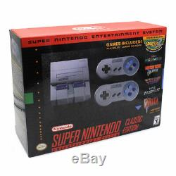 Système De Divertissement Snes Classic Mini Edition Super Nintendo - Neuf