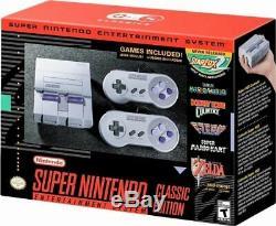 Système De Divertissement Super Nintendo Mini Snes Super Nes Classic Edition Avec Boîte