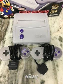 Système De Divertissement Super Nintendo Snes Sn-101 Jr. Avec Boite! Rare