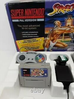 Système De Divertissement Super Nintendo Snes Street Fighter 2 II Turbo Pal Testé